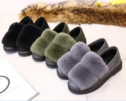 Wholesale Women Long Sandals Shoes - New Women Long Plush slipper Fluffy Rabbit Hair Fur Slides Thick Bottom Sandals Home Flip Flop Female Casual Party Shoes cony hair boots