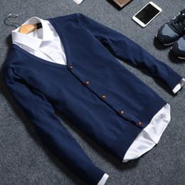 Wholesale Korean Sweater Slim Fit Black - 2016 new winter clothing wholesale Korean V collar cardigan sweater slim cotton knit sweater slim fit