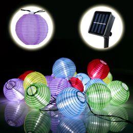 Wholesale Solar Garden Lights Birds - Wholesale- 20 LED Bird Cage Outdoor Garden LED Solar Hanging Lantern String Light Hot Sales