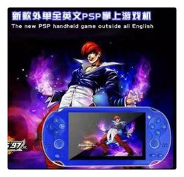 Wholesale Mp3 Mp4 Mp5 Player 4gb - DHL Portable Game Players Hot sales! 4GB G300 PMP Handheld Game Player MP3 MP4 MP5 Player Video FM Camera Portable Game Console