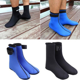 Wholesale Neoprene Swimming - Water Sports Surfing Booties 3mm Neoprene Diving Scuba Swimming Socks Drifting Snorkeling Boots Water Sports Feet Protection Wearings