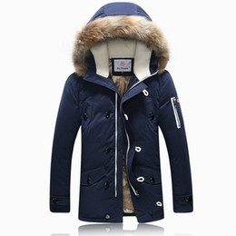 Wholesale Short Down Jacket Hood - 2016 Winter Brand Men Down Jacket Fur Hood With Cashmere Plus Size XXXL Winter Jacket High Quality Fashion Men's Coat Hot Sale