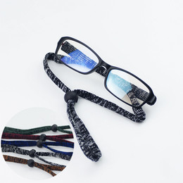 Wholesale String Slips - 20Pcs Lot Outdoor Sports Adjustable Eyeglasses Flexible Anti-Slip Spectacle Glasses Chain String Rope 5Colors Free Shipping