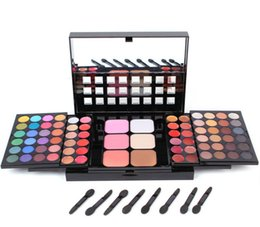 Wholesale Natural Composites - 78 colors of push-pull eye shadow Lip gloss concealer grooming powder composite colour makeup Free shipping DHL
