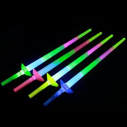 Wholesale Telescopic Plastic Rod - Creative children's luminous plastic booth toys, concert four telescopic light rod, explosion money, toys, sword