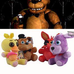 Wholesale Cartoon Dog Games - EMS 2016 New Cartoon Five Nights at Freddy's plush toys Bear fox dog duck FNAF Stuffed Animals 18cm 7inch Children best gift C491