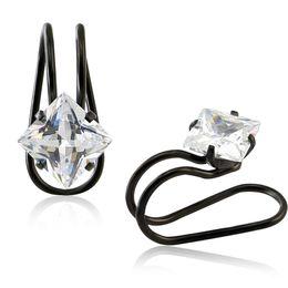 Wholesale Top Ear Black Earrings - Top Quality Ear Cuff Earrings For Women Bling Bling CZ Ear Wrap No-Piercing Jewelry For Mother's Day Gift Earring Clips Jewelry