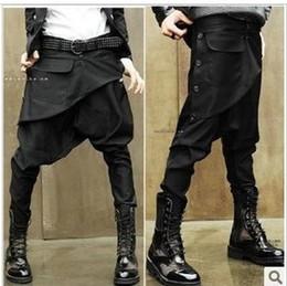 Wholesale Men Big Crotches - Men's skinny pants low-rise ruslana korshunova harem pants men crotch pants big baggy jeans Saggy trousers male casual clothes