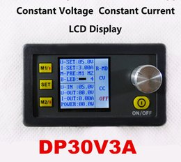 Wholesale Fan Module - DP30V3A Car LCD display Constant Voltage and current Step-down Programmable Power Supply module converter voltmeter with fan free by dhl fe