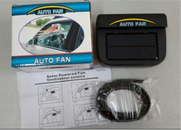 Wholesale Solar Power Cooling Air Ventilation - 2016 Auto Fan Cool Solar Powered Car Auto Air Vent Cool Fan Cooler Ventilation Radiator System with Package Box