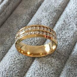 Wholesale Famous Brands China - Famous Brand Luxury 18K gold Plated CZ diamond rings Top Classic Design Wedding Band lovers Ring for Women and Men