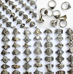 Anéis de estilo tibetano on-line-Estilo misto Tibet Prata Anéis Do Vintage Para As Mulheres e Homens Toda a Venda de Jóias Moda Lotes Anel LR084 Frete Grátis