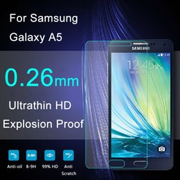 Wholesale Glass Top Protector - Top Quality Explosion Proof 0.26mm 2.5D Tempered Glass Screen Protector For Samsung Galaxy A5 A5000 Protective Film FreeShipping