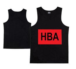 Wholesale Tank Tops Branded For Men - Men's HBA Muscle Tank hip hop HBA tank tops Men fashion vest Mens brand tank silk tanks Sports Undershirts for men free shipping