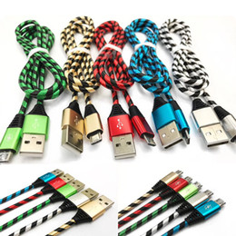 Wholesale free usb cable - New Arrival High Quality Strong Braided USB Charging Cable Micro V8 Cables with DHL Free Shipping