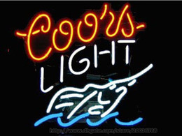 "Wholesale Food Clubs - Coors Light Swordfish Handcrafted Neon Sign Real Glass Tuble Light Club Bar Sea Food Display Sign Restaurant Advertisement Logo Sign 20""x24"""