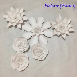 Paper flowers for wedding bouquet australia new featured paper 12pcs set white giant paper flowers for showcase wedding backdrops props flores artificiais para decora o baby shower mightylinksfo