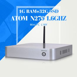 Wholesale Mini Pc Thin Client Wifi - Wholesale-XCY High Performance N270 N450 1G RAM 32G SSD+WIFI factory desktop computer thin client fan diy computer mini pc thin client