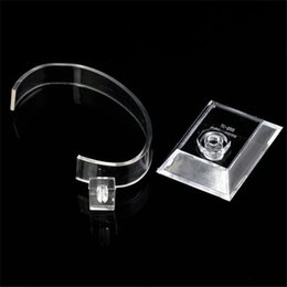 Wholesale Watch Dispaly - Wholesale free shipping professional transparent plastic Jewelry Bracelet watch dispaly stand holder show stand for watch