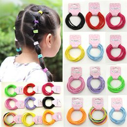 Wholesale Ponytail Red - The New Han Edition Elastic Hair Rope Holster Small Hair Ring a Variety of Colors of the Girls Lot Drop Shipping