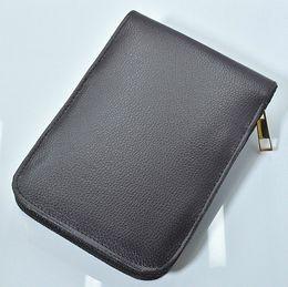 высокое качество молнии черный / коричневый PU кожа высокой емкости карандаш мешки для шариковой ручки / авторучки / функциональная ручка удобный пенал от