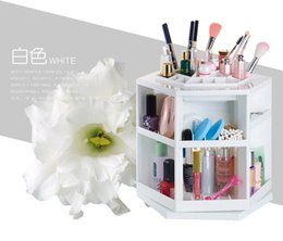 Wholesale Clear Cosmetic Storage - new ! 360 degree cosmetics rotary storage box Princess cosmetics box storage box+gift