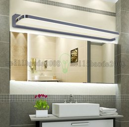 Wholesale Glass Cabinet Light - NEW 75cm 10W Mirror Light Led Bathroom Wall Lamp Mirror Glass Waterproof Anti-fog Brief Modern Stainless Steel Cabinet Led Light MYY