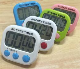 Timers online-Nuevo Gran LCD Cocina Temporizador de Cocina Cuenta atrás Reloj Reloj de Alarma Fuerte temporizador de cuenta regresiva Magnética Envío gratis