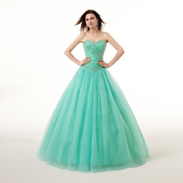 Wholesale Dress Quinceanera Organza Strapless - Vestido De Noiva 2016 High-grade Luxury Quinceanera Dresses Color Yarn Sweetheart Strapless A-line Long Party Prom Formal dresses