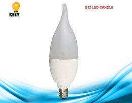 Wholesale B15 Led 12v - E12 E14 E26 E27 B22 B15 C37 5W LED candle plastic+aluminum tail lamp milk light