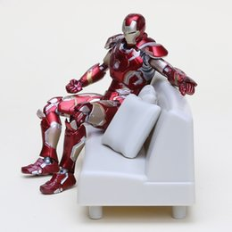 Wholesale Toy 43 - Free Shipping The Avengers Age of Ultron Iron Man Mark 43 Action Figure Iron Man MK43 Doll PVC ACGN figure Garage Kit Toy