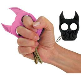 Wholesale Broken Rings - Brutus Bulldog Survival Keychain self defense keychain dog Portable Fist Keychain Windows Broken Duron Drill Finger Ring