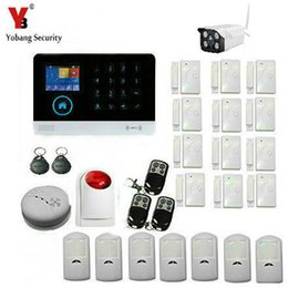 Wholesale Outdoor Siren Gsm - Wholesale- YobangSecurity WIFI Gsm Wireless Home Alarm Security System With Outdoor Wifi IP Camera Wireless Siren Smoke IOS Android APP