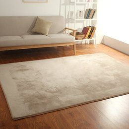 Wholesale Flocking Carpet - Coral cashmere Euro-style living room Simple modern coffee table mat sofa bedroom full house tatami bedside carpet