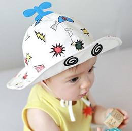 Wholesale Summer Baby Girl Sunhat - New Baby Cartoon Hats Kids Copter Bucket Hat Boys Girls Sunhat Children Sun Hat Caps 11474