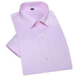 Wholesale Designer Formal Men Shirts - Wholesale-1005 Cotton Twill Short Sleeve Men Summer Shirts Formal Brand Designer Wedding Dress Party Business Camisa Masculina vT0055