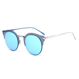 Wholesale Black Fram - New arrival fashion cat eye sunglasses women metal fram leak flowe hot sellers women sunglasses top quality sun glasses gafas de sol