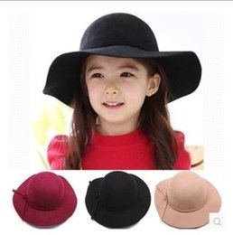 Wholesale Hat Wholesale England - 2016 New Girl Princess Hats England Style Cotton Sunhats Children Accessories 2-7T 3301