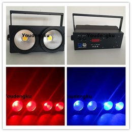 Wholesale Audience Lights - Wholesale- 2 pieces audience cob led blinder 2 eyes 100W rgbw 4in1 led pixel blinder BACKGROUND STAGE LIGHT