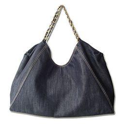 Wholesale Blue Denim Purse Bag - New Arrival Fashion Brand Denim Shoulder Bag Women Canvas Large Capacity Shopping Bags Handbag Purse 66942A