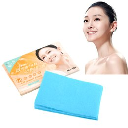 Wholesale Oil Control Blotting Paper - High Quality Portable 50pcs Facial Oil Control Film Absorbing Tissue Blotting Beauty Papers Skin Care