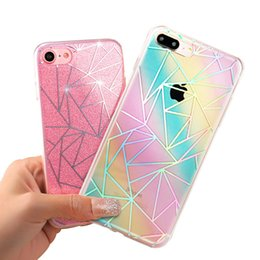 Para apple iphone 6 6 s plus 5 5S phone case para iphone 7 7 plus tpu gel macio tampa traseira bling glitter cintilante protetora shell de Fornecedores de gel bling