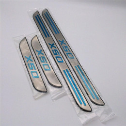 Wholesale Door Sill Scuff Guards - for Lifan X50 Door Sill Scuff Plate Guards Pedal Threshold Strip Car-Styling Sticker Car Accessories Stainless Steel