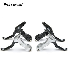 Wholesale Handle Levers - Brake Lever Positive and Negative Common Ultralight Aluminum Mountain Road Bike Fixed Gear Brake Handle Disc Brake V Brake Lever