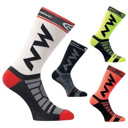 Wholesale Fast Sport Bikes - 2018 Professional New Cycling Socks Comfortable Breathable Men Sports Bikes Running Socks Outdoor Racing Socks Free Fast Shipping