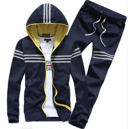 Wholesale Up Collar Suit Jackets - NEW Brand Mens Tracksuits Sets New Autumn Mens Hoodies And Sweatshirt Sweat Suits Chandal Hombre Marca Sporting Suit Jacket + Pants