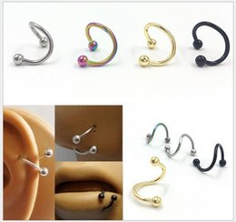 Wholesale 316 L Rings - Nose ring body art piercing jewelry fashion jewelry type 316 l stainless steel S nose nose ring 500 PCS