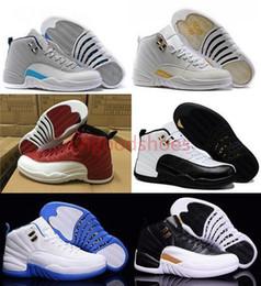 pretty nice e8619 f78a1 Commercio all ingrosso di Alta qualità 2016 Retro 12 XII Francese Blu  Master Influenza Gioco Sport da Donna per Uomo Scarpe Da Basket Sneakers  Economici ...