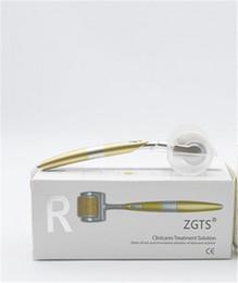 Wholesale Zgts Titanium Dermaroller - 192 Needles ZGTS Derma Roller Titanium Alloy Dermaroller Micro Needle Roller System Zgts Dermaroller 192 Pins For Hair Loss Treatment