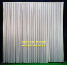 Wholesale Wedding Backdrop Curtain Lights - Background drop Wedding Party Stage Celebration Background Satin Curtain Drape Pillar Ceiling Backdrop Marriage decoration Veil WT031